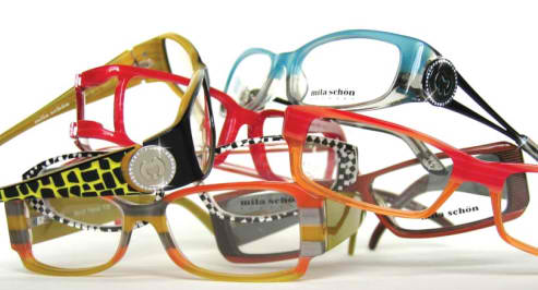 Assorted glass frames